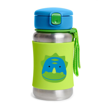 Slika za Skip Hop® Steklenička iz nerjavečega jekla s slamico Dinozaver
