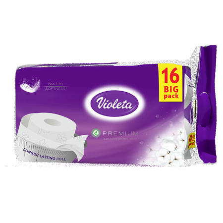 Slika za  Violeta® Toalet papir Premium Pamuk 16/1 3SL
