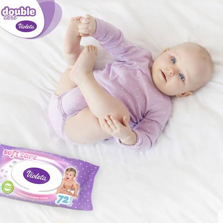 Violeta® Dječje vlažne maramice sa Bademovim uljem 56/1