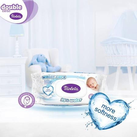 Violeta® Dječje vlažne maramice Water Care 3x56/1