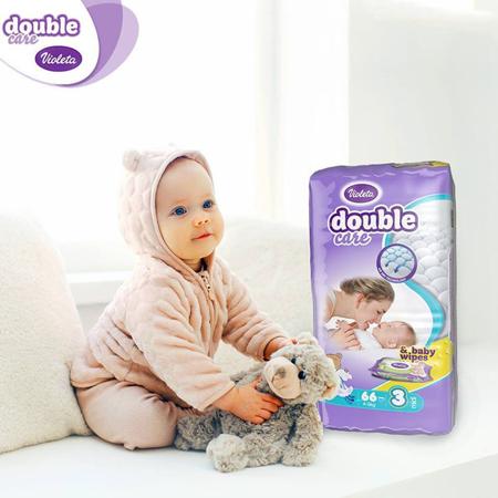 Slika za  Violeta® Pelene AirCare 3 Midi (4-9kg) Jumbo 66 +  Poklon Baby vlažne maramice