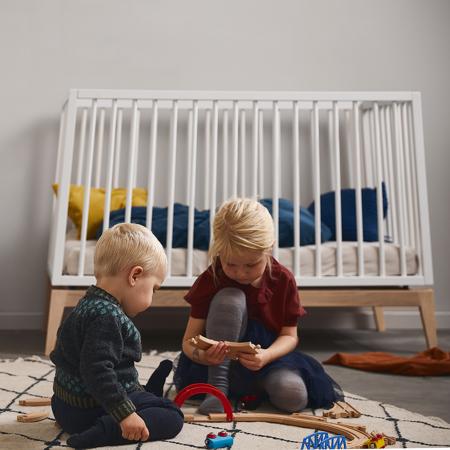 Slika za Leander® Otroška postelja Luna™ 120x60 cm White/Oak