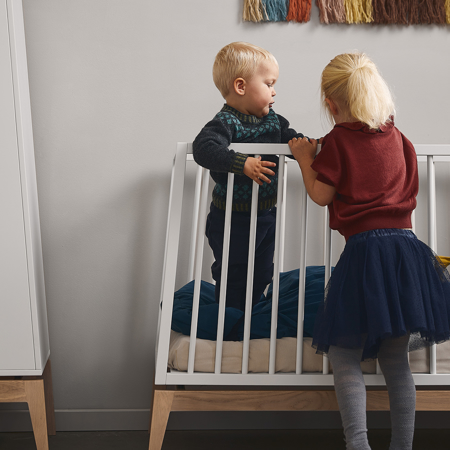 Slika za Leander® Otroška postelja Luna™ 140x70 cm White/Oak