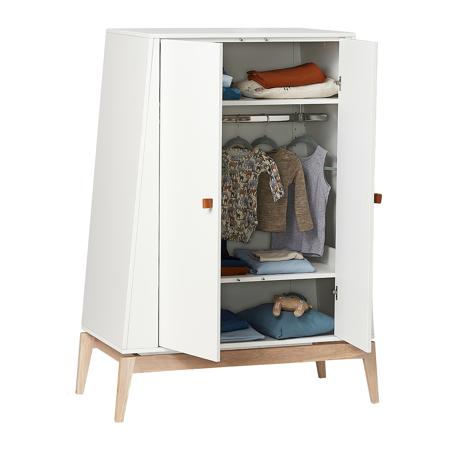 Slika za Leander® Otroška omara Luna™ Small White/Oak
