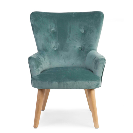 Slika za Childhome® Otroška zofa fotelj Childhome Green Velvet