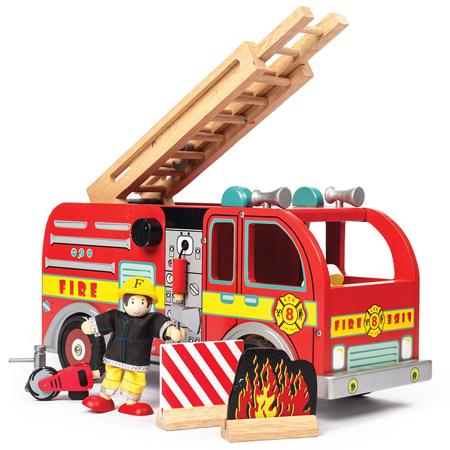 Slika za Le Toy Van® Leseni gasilski tovornjak