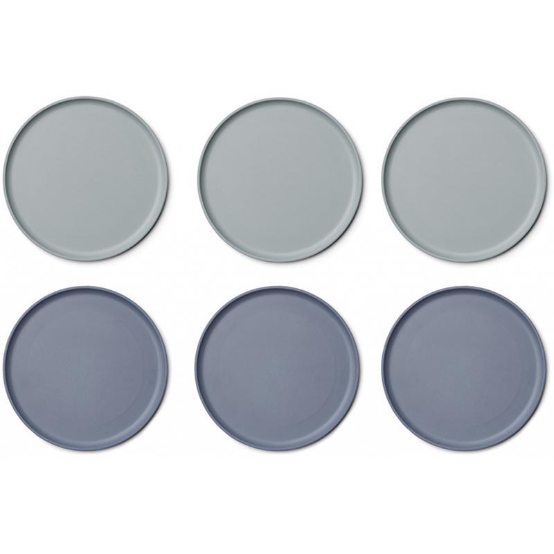 Slika za  Liewood® Set 6 tanjura Bambo Patrick Blue Mix