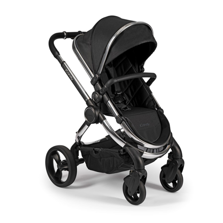 Slika za  iCandy® Dječja kolica s košarom 2u1 Peach s kromiranim okvirom Chrome Black Twill