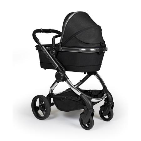 iCandy® Dječja kolica s košarom 2u1 Peach s kromiranim okvirom Chrome Black Twill