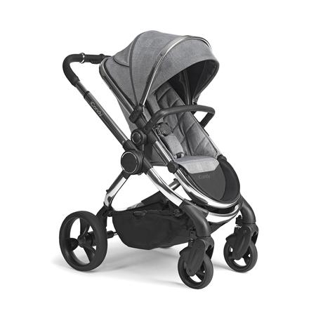 Slika za iCandy® Dječja kolica s košarom 2u1 Peach s kromiranim okvirom Chrome Light Grey Check Combo