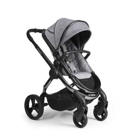 Slika za iCandy® Dječja kolica s košarom 2v1 Peach s crnim okvirom Phantom Light Grey Check Combo