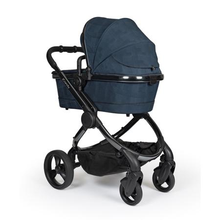 iCandy® Dječja kolica s košarom 2v1 Peach s crnim okvirom Phantom Navy Check Combo