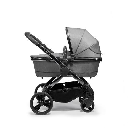 iCandy® Dječja kolica s košarom 2v1 Peach s crnim okvirom Phantom Dark Grey Twill