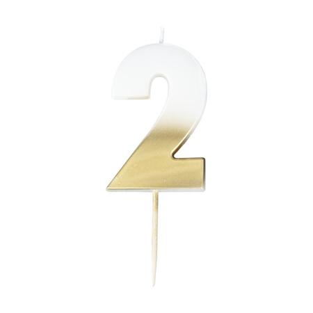 Ginger Ray® Svijeća  Gold Ombre Broj 2