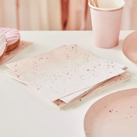Slika za Ginger Ray® Papirnate salvete Ombre Rose Gold 16 komada