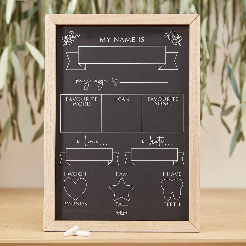 Slika za  Ginger Ray® Baby Milestone tabla Botanical