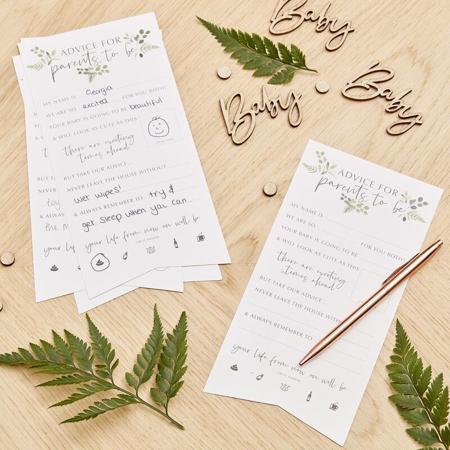 Slika za Ginger Ray® Kartice za savjete Botanical 10 komada