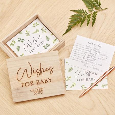 Slika za Ginger Ray® Kartice za savjete u drvenoj kutiji Botanical