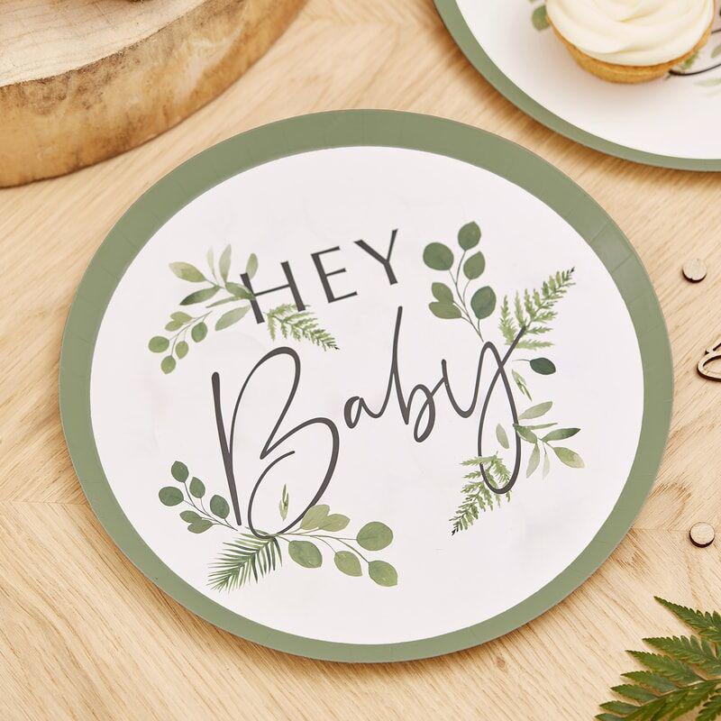 Slika za Ginger Ray® Tanjuri s folijom Hey Baby Botanical 8 komada