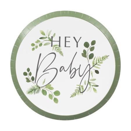 Ginger Ray® Tanjuri s folijom Hey Baby Botanical 8 komada
