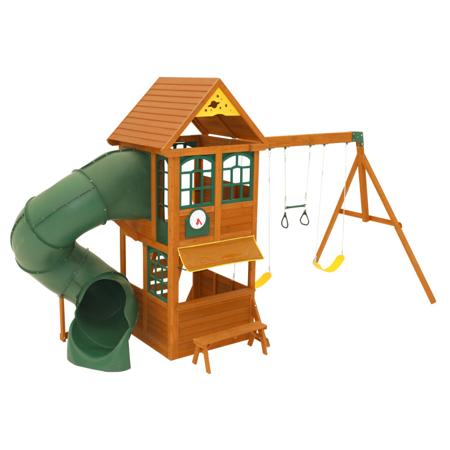 Slika za KidKraft® Vanjska kućica s toboganom i ljuljačkama Forest Ridge