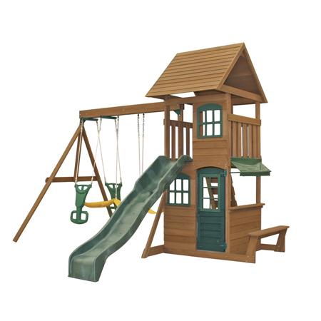 Slika za KidKraft® Drvena ljuljačka s toboganom Windale