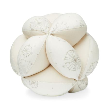 CamCam® Žoga z ropotuljico Dandelion Natural