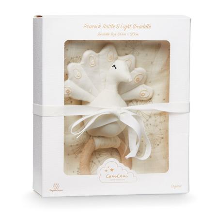Slika za CamCam® Darilni set Ropotuljica Pav in Tetra plenička Dandelion Natural