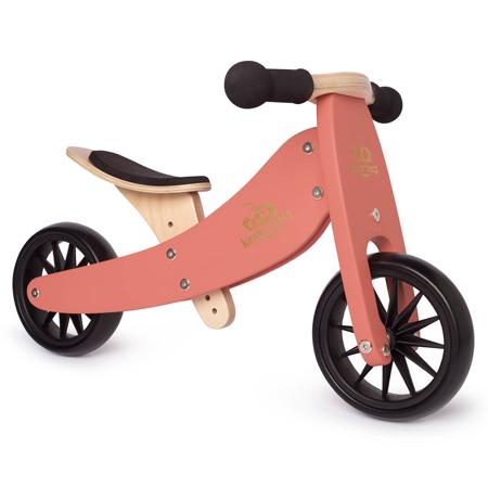 Kinderfeets® 2u1 Tricikl i bicikl bez pedala Tiny Tot Coral