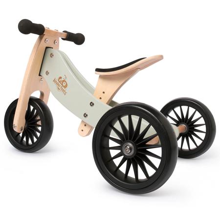 Kinderfeets® 2u1 Tricikl i bicikl bez pedala Tiny Tot Plus Silver Sage