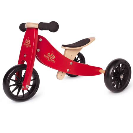 Slika za Kinderfeets® Drvena guralica Tiny Tot 2u1 Cherry Red