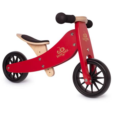 Kinderfeets® 2u1 Tricikl i bicikl bez pedala Tiny Tot Cherry Red