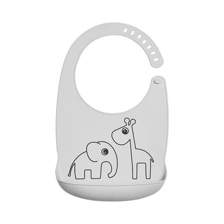 Slika za Done by Deer® Silikonski podbradnjak Deer friends Grey