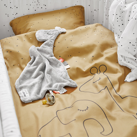 Done by Deer® Posteljina Dreamy dots Junior Mustard 100x140