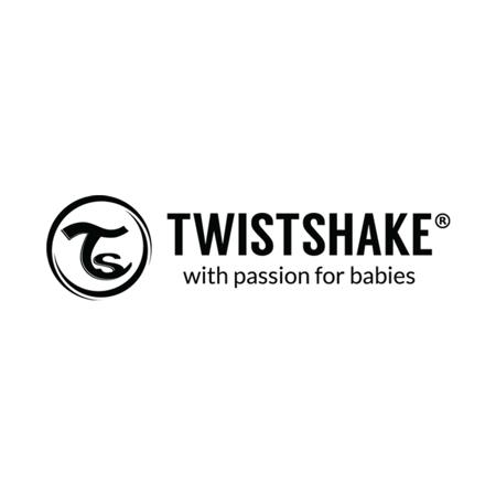 Twistshake® Dva podbradnjaka Pastel Black & White (4+m)