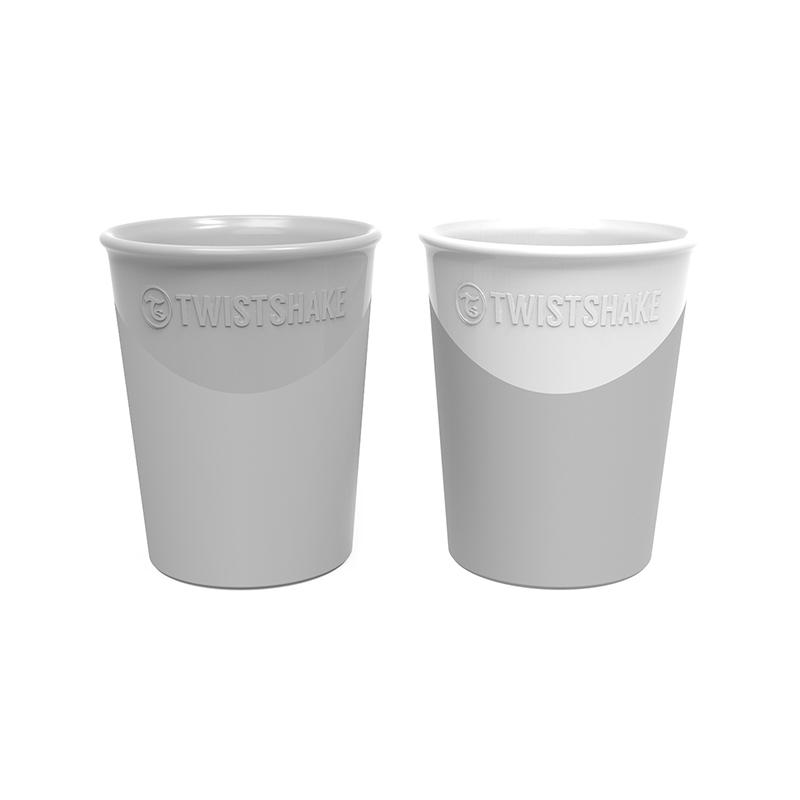 Slika za Twistshake® 2x Čaše Grey&White 170ml (6+m)