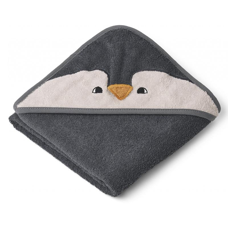 Slika za Liewood® Ručnik s kapom Penguin Stone Grey 70x70