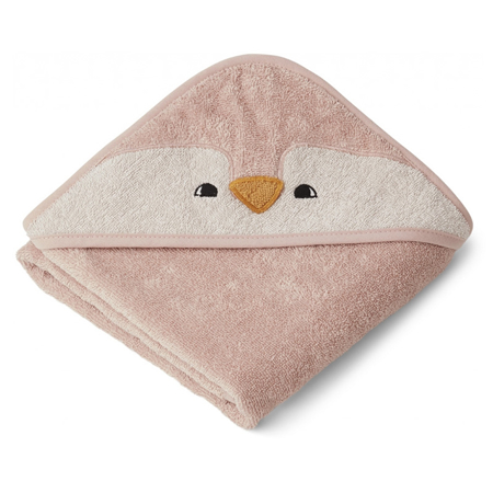 Slika za  Liewood® Ručnik s kapom Penguin Rose 70x70