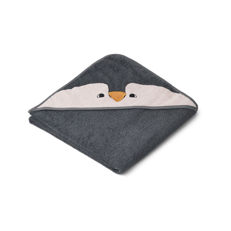 Slika za Liewood® Ručnik s kapom Penguin Stone Grey 100x100