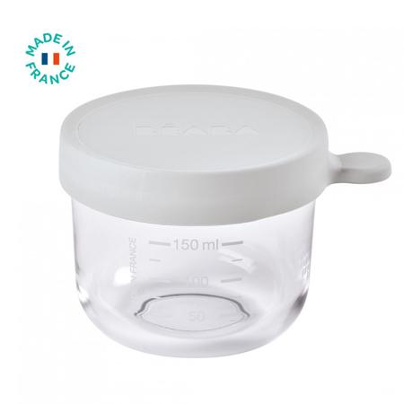 Slika za Beaba® Steklena posodica za shranjevanje 150ml Grey
