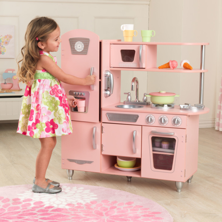 KidKraft® Dječja kuhinja Vintage Pink/Silver