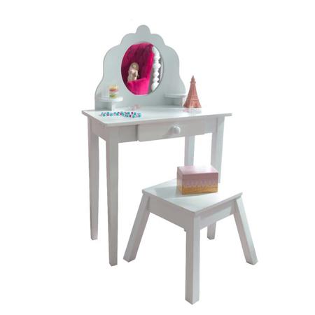 Slika za  KidKraft® Dječji stol sa stolicama i ogledalom White