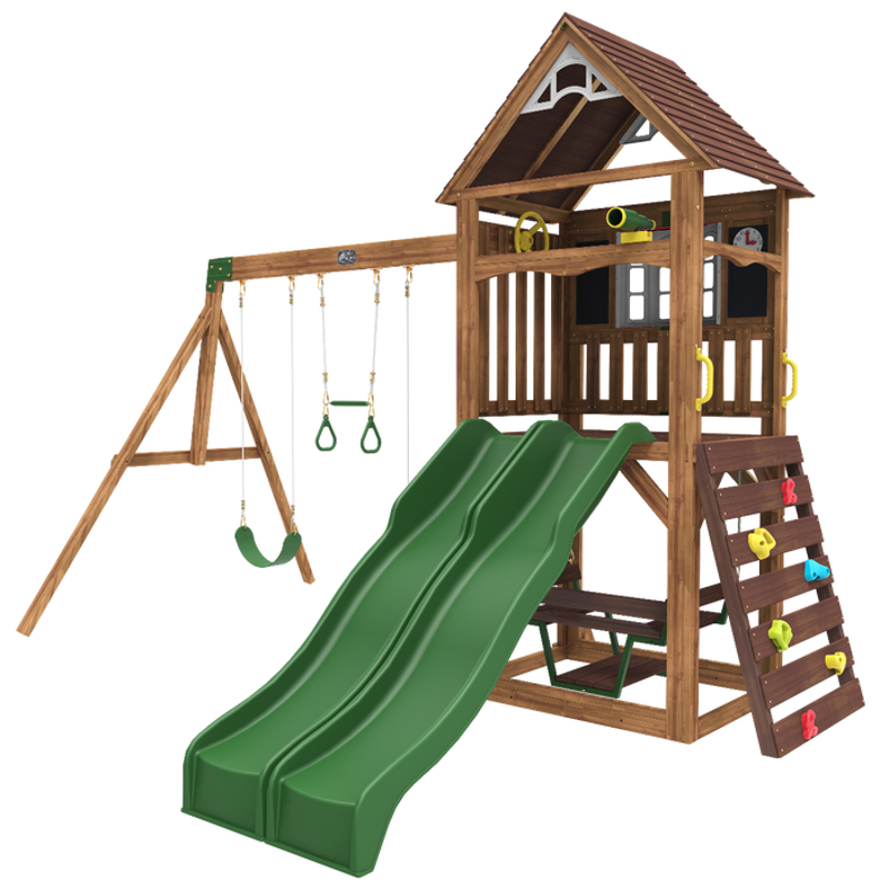 Slika za KidKraft® Drvena ljuljačka s dvojnim toboganom Lindale