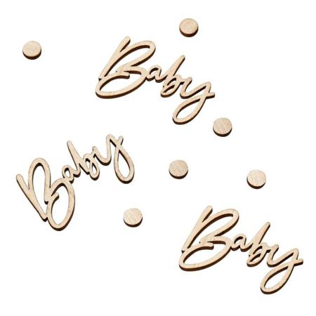 Ginger Ray® Ukrasni drveni konfeti za stol Baby