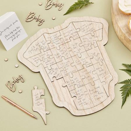 Slika za  Ginger Ray® Drvena slagalica za goste Baby