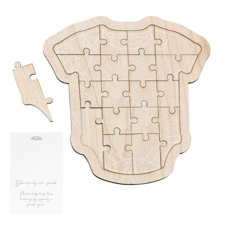 Ginger Ray® Drvena slagalica za goste Baby