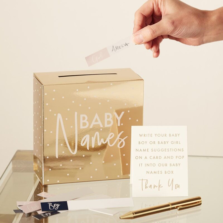 Slika za Ginger Ray® Zlata kutija za prijedloge imena djeteta