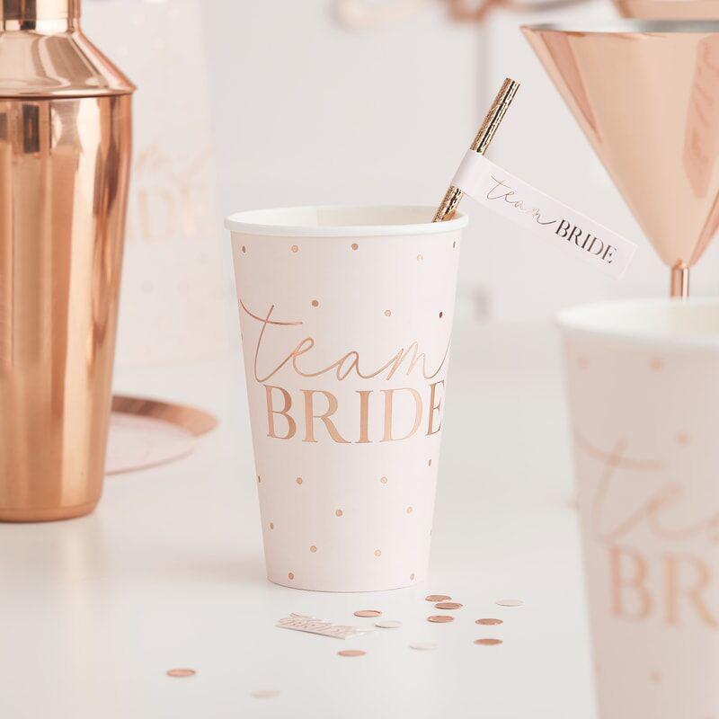 Slika za Ginger Ray® Papirne čašice Team Bride 8 komada