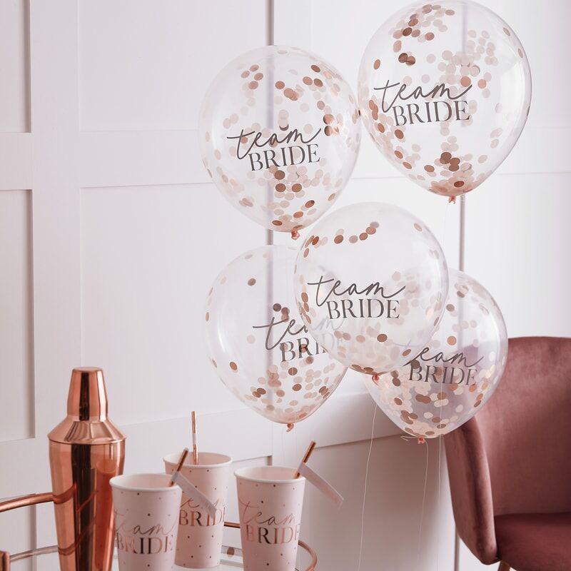 Slika za Ginger Ray® Baloni s konfetama Team Bride 5 komada