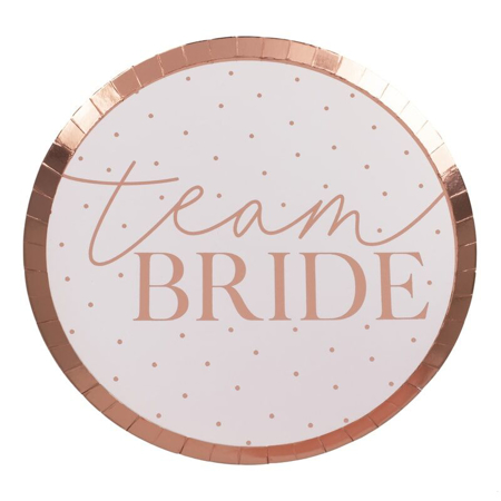 Ginger Ray® Papirni tanjuri Team Bride 8 komada